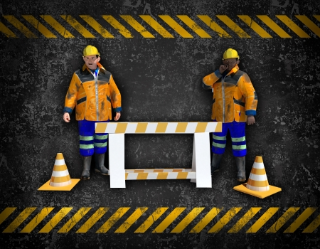 construction background with workers Stock Photo - 16774529