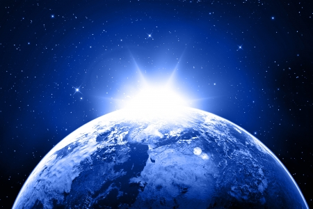 earth in space Stock Photo - 16774418