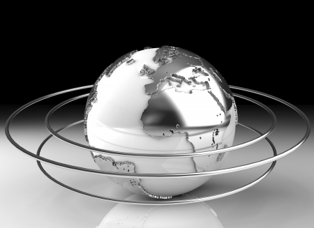 earth metal background  photo