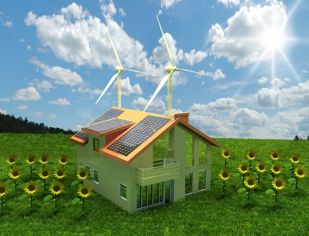 concept de la maison des économies d'énergie