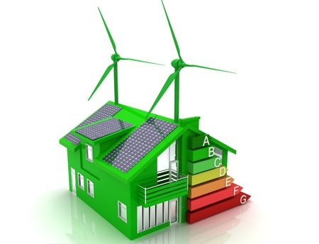 climatic: house energy saving concept Stock Photo