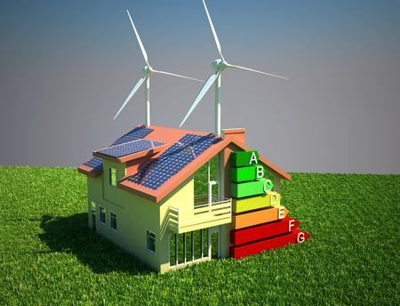 house energy saving concept Standard-Bild