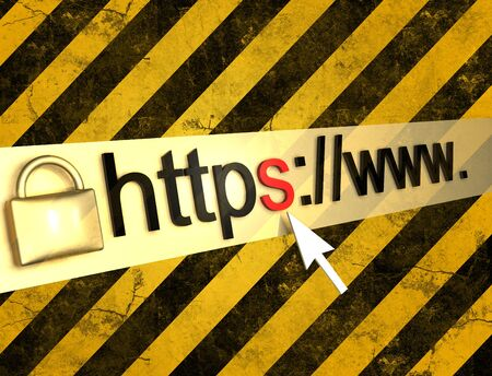 offline: https protected web pagebackground Stock Photo