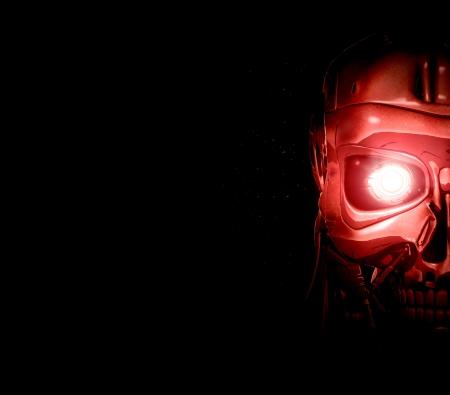 terminator: robot background