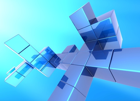 hi tech background: abstract cube  background