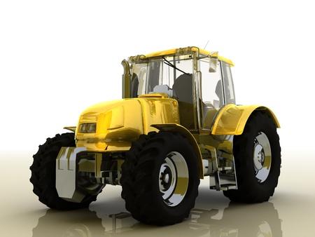 excavating machine: tractor Stock Photo