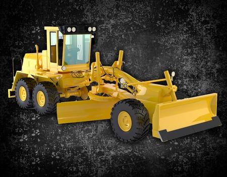 road scraper: bulldozer background Stock Photo