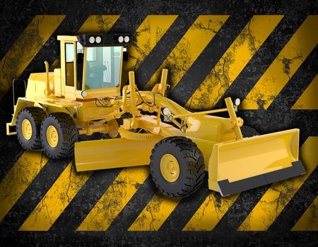 car loader: bulldozer background Stock Photo