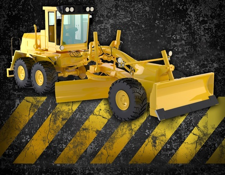 paving: bulldozer background Stock Photo