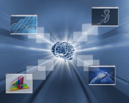 brain technology background photo