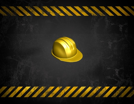 hazard damage: construction background  Stock Photo