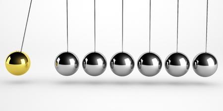 newton pendulum isolated photo