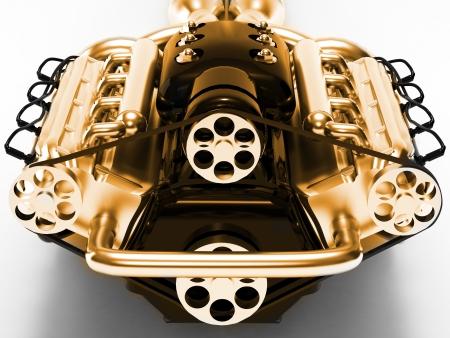 Engine rendered on white background