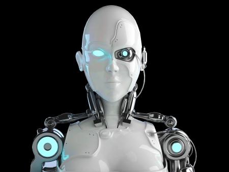 robot  women Standard-Bild