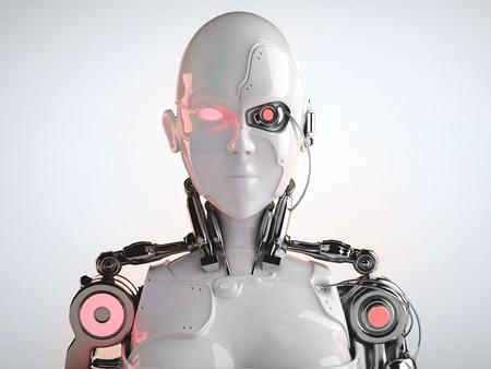 cyborg: robot  women Stock Photo