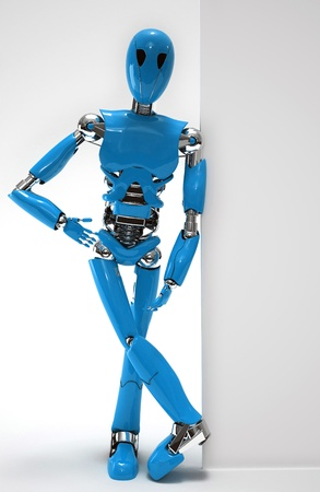 robot  isolated Stock Photo - 19113407
