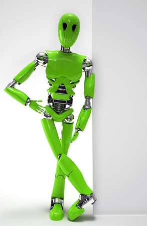 robot  isolated Stock Photo - 19113393