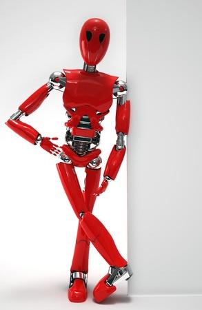 robot  isolated Stock Photo - 19113377