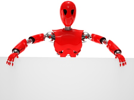 robot  isolated Stock Photo - 19113314