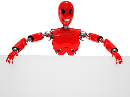 robot smiling isolated Stock Photo - 19113329