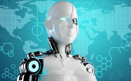 컴퓨터 로봇 배경