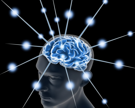 脳と人間の思考のパルスのプロセス