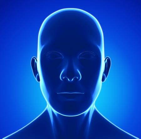 human head photo
