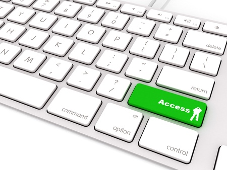 keyboard key: green access button on keyboard