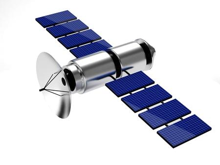 space shuttle: satellite isolated on white background