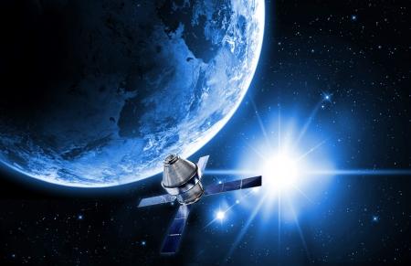 in de ruimte satelliet