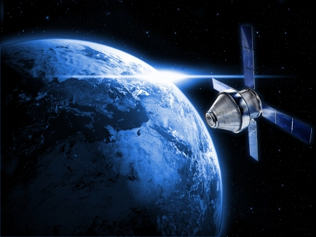 global positioning system: satellite in space