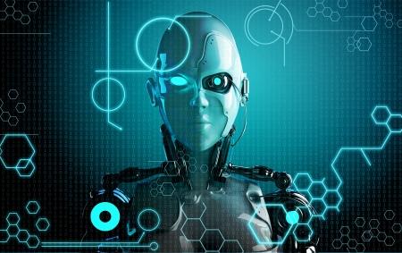 computer robot achtergrond
