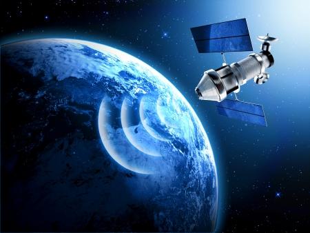 Satelliten im Weltraum Standard-Bild - 22339885