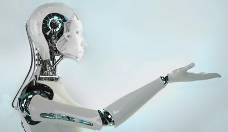 Roboter Frauen Standard-Bild - 22339890