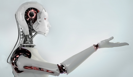 로봇 여성 스톡 콘텐츠