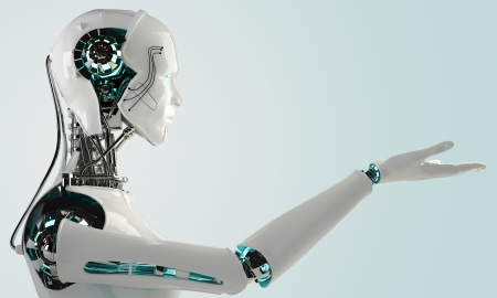 robot android mannen