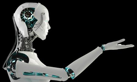 로봇 안드로이드 남성 스톡 콘텐츠