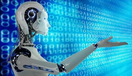 コンピューターのロボット 写真素材
