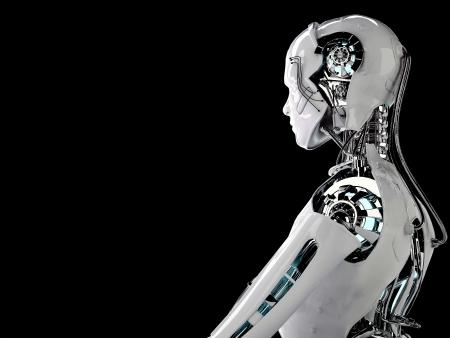 chrome man: robot men