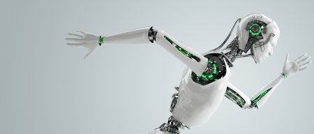 robot android mannen die