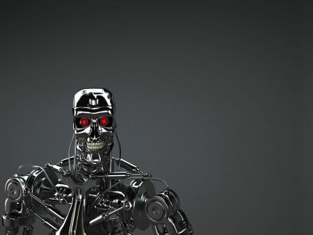 ロボットの背景 写真素材