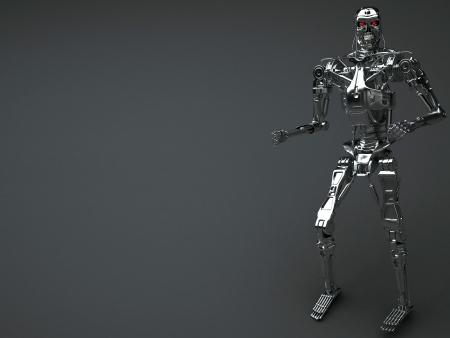 robot background photo