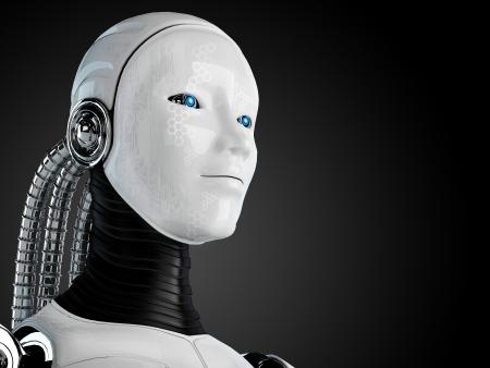 robot android women Stock Photo