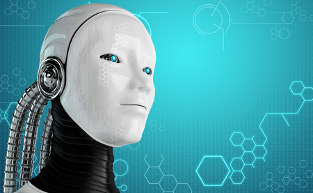 computer robot background photo