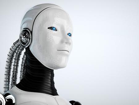 Roboter android Frauen Standard-Bild - 23424348