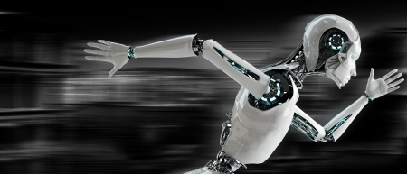 ロボット android ランニング スピード コンセプト 写真素材 - 23425673
