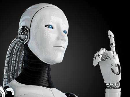 robot android women Standard-Bild