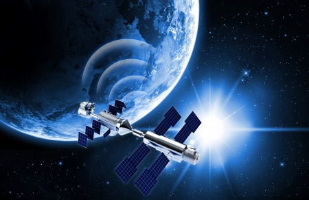 dimensionally: satellite in space