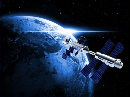 satellite in space: satellite in space