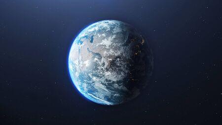 Pianeta Terra visto dallo spazio, rendering 3d del pianeta Terra, elementi di questa immagine fornita dalla NASA